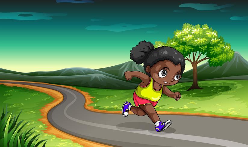 Ein schwarzes Mädchen, das rüttelt vektor