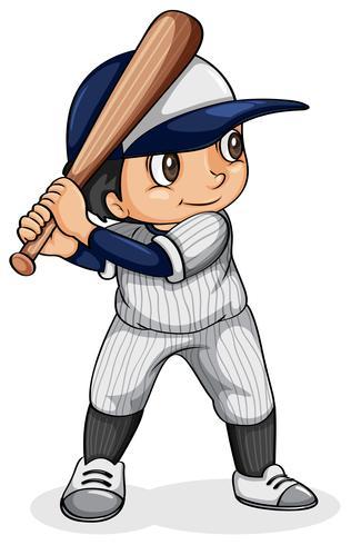 Ein asiatischer Baseballspieler vektor
