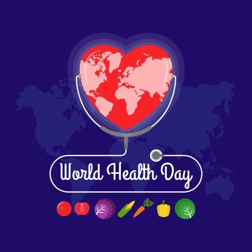 Weltgesundheitstag-Vorlage vektor