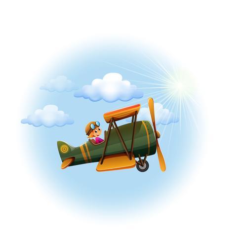 En propeller i himlen vektor