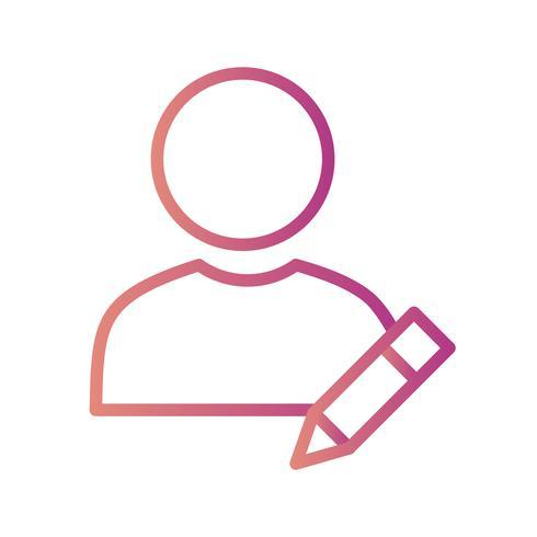 Profil-Vektor-Symbol bearbeiten vektor