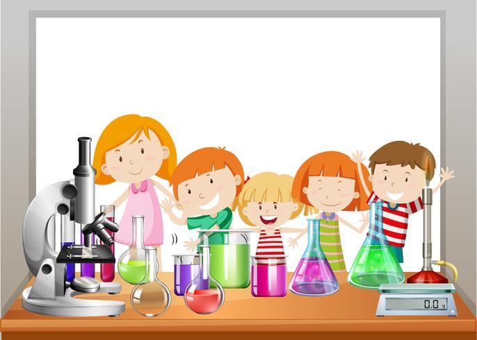 Grenzgestaltung mit Kindern und Labor vektor