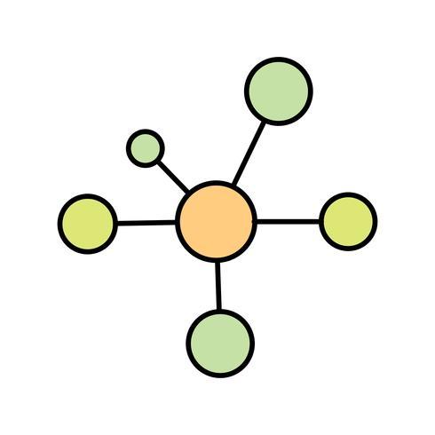 Elektron-Vektor-Symbol vektor