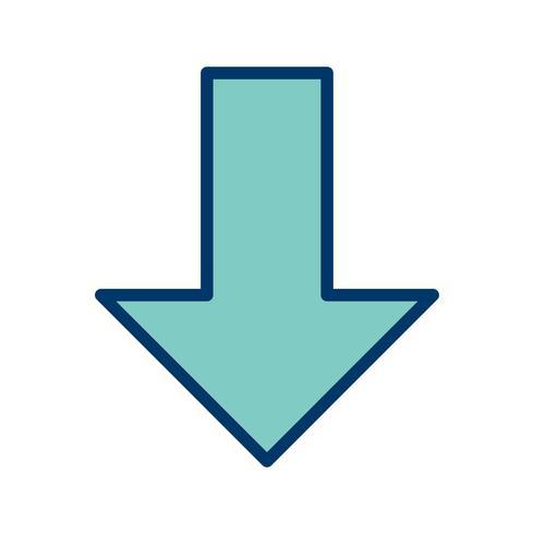 Down-Vektor-Symbol vektor