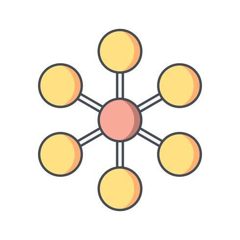 Molekül-Vektor-Symbol vektor