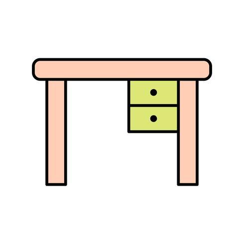 Studie tabellvektorns ikon vektor