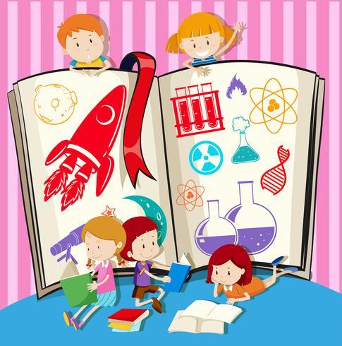 Kinder- und Wissenschaftsbuch vektor