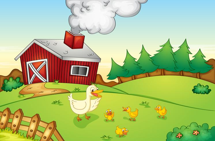 Farm scen vektor