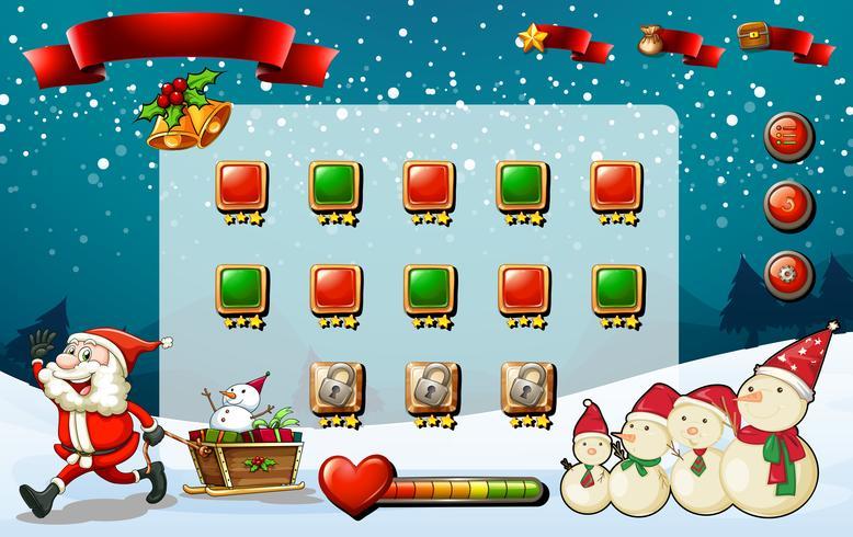 Spelmall med Santa och snögubbe vektor