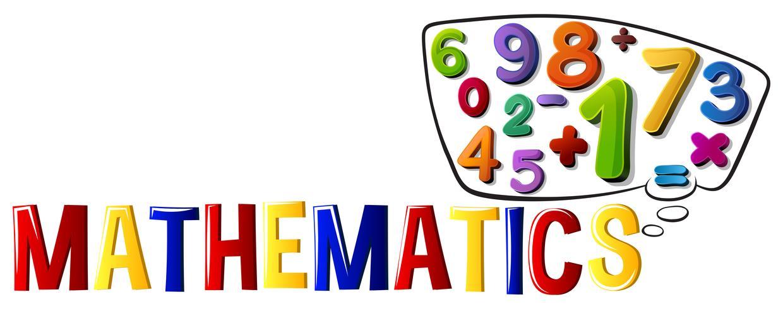 Teckensnittsdesign med ordmatematik vektor