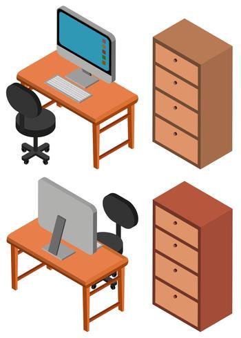 Design 3D für Computer auf Tabelle vektor