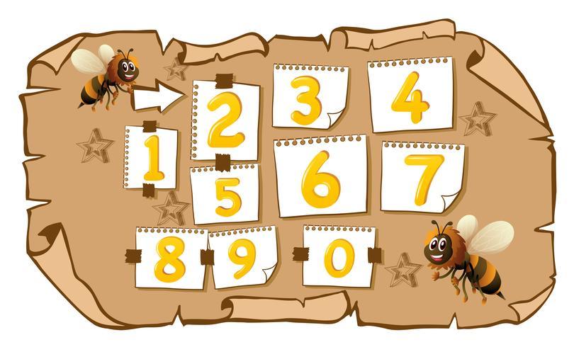 Räkna siffror med bin vektor