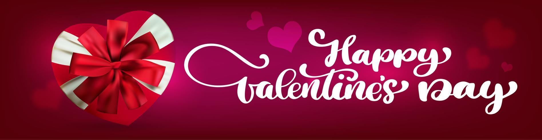 Texthandschrift glückliche Valentinsgrußtagesfahnen vektor
