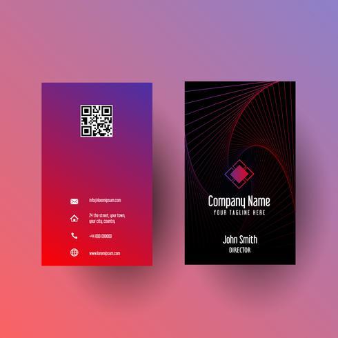 Visitkort med abstrakt design vektor