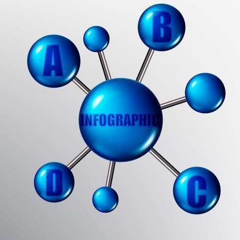 Vektormoleküle oder Partikel mit Bindungen. Infografiken. vektor