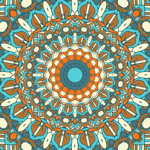 Ausführlicher Mandala-Designhintergrund vektor
