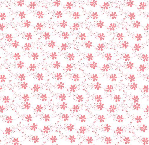 rosa blommigt prydnadsmönster sömlöst vektor