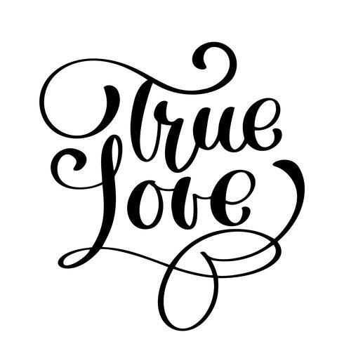 True Love Happy Valentines dagkort vektor