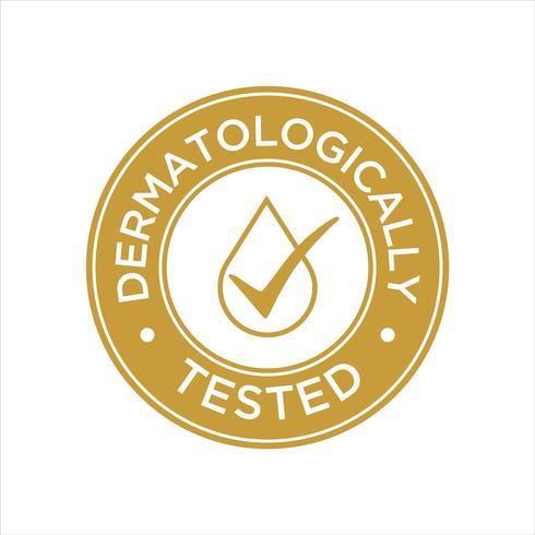 Dermatologiskt testad ikon vektor