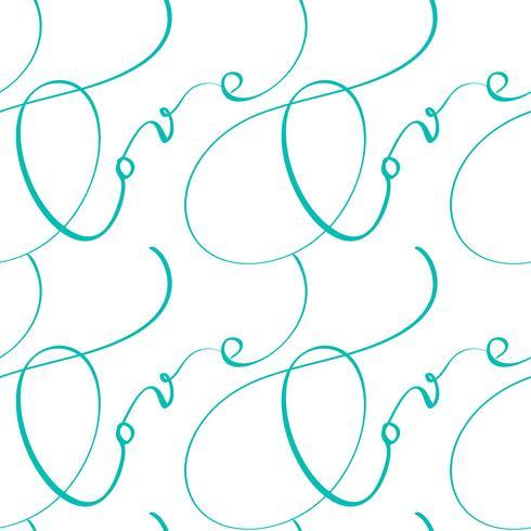 Nahtloses Muster mit handgemalter Valentinsgrußliebe und -herzen vektor