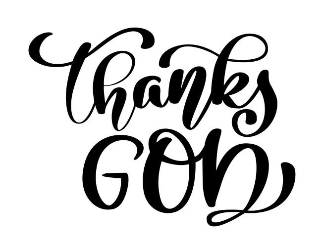 Tack gud kristen citat vektor