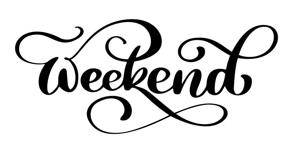 Handschrift-Wochenende vektor