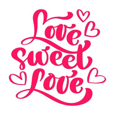 Love Sweet Love Elegantes Grußkarten-Design vektor