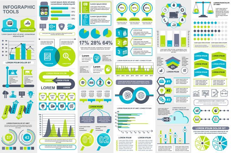 Infografiska element data visualisering vektor design mall