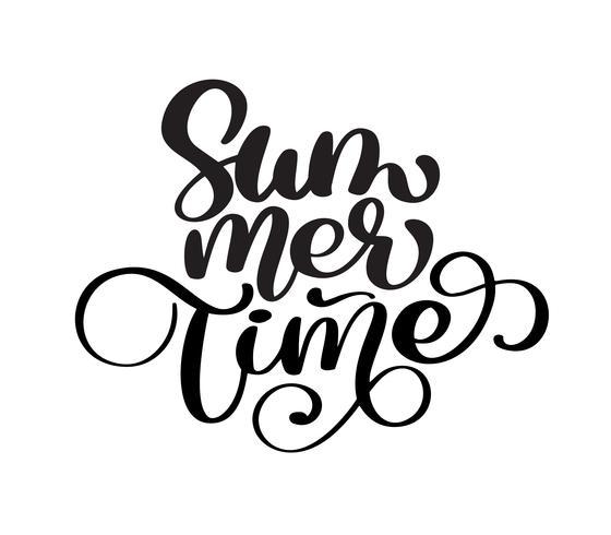Handdragen sommartid vektor