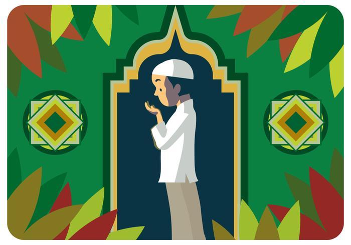 Muslim pojke böjer vektor