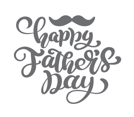 Lycklig fäder dag vektor bokstäver bakgrund. Lycklig fäder dag kalligrafi ljus banner. Pappa min kung illustration