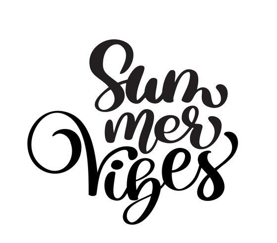 Handschrift Summer Vibes vektor