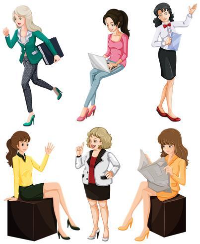Upptagen kvinnor vektor
