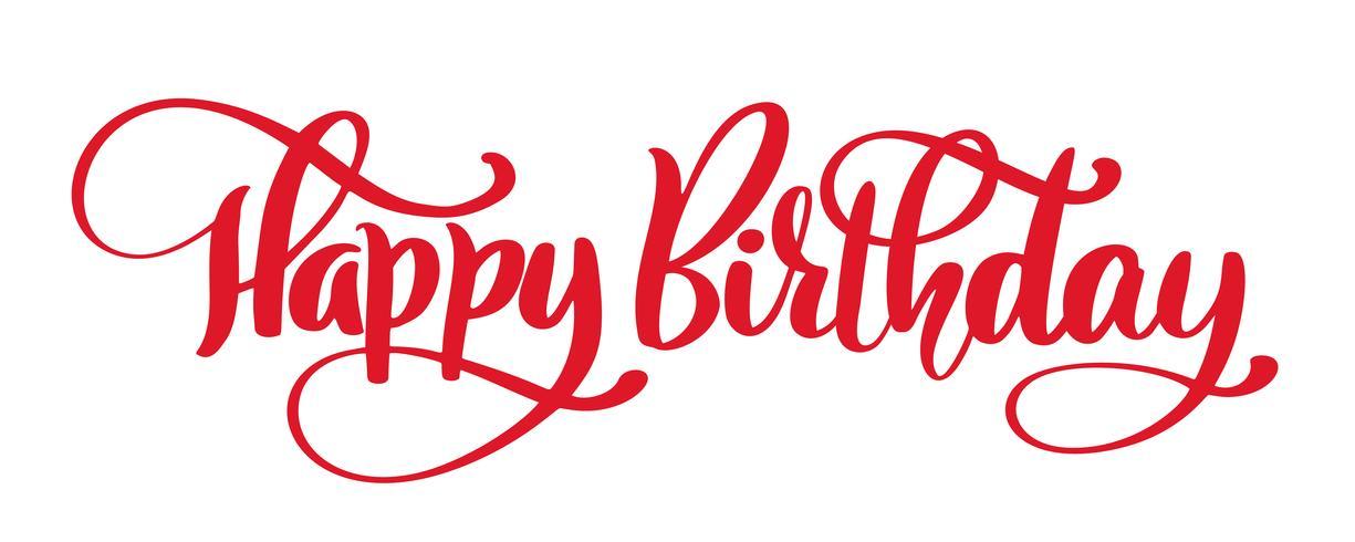 Grattis på födelsedagen Handritad textfras vektor