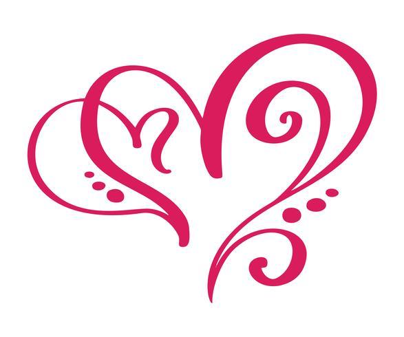 Hjärta kärlekstecken för evigt för lyckliga Alla hjärtans dag. Infinity Romantisk symbol kopplad, gå med, passion och bröllop. Mall för t-shirt, kort, affisch. Design platt element. Vektor illustration