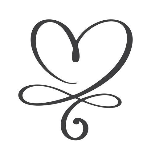 Hjärta kärlekstecken för alltid vektor