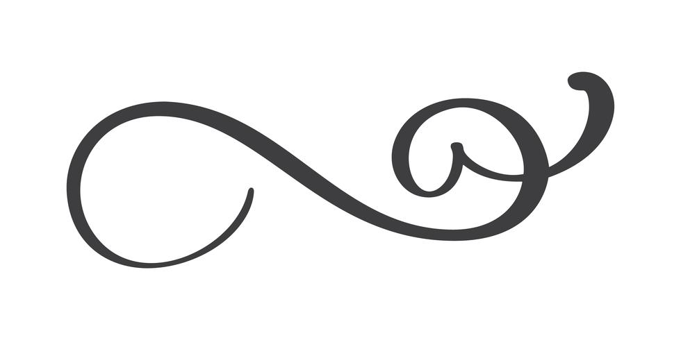 Gezeichneter Flourishseparator der Weinlese Hand vektor