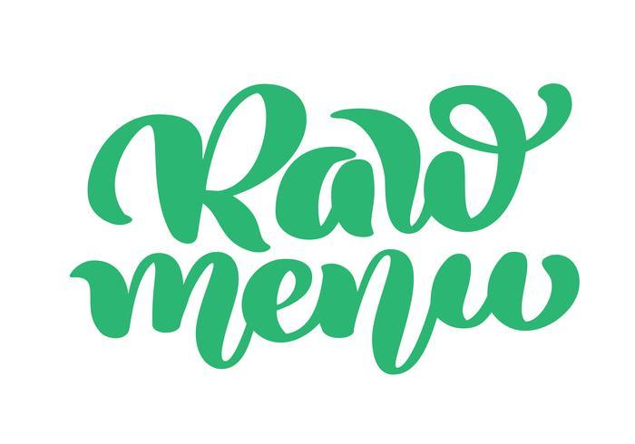 Rå meny handritad kalligpaphy isolerad vektor illustration