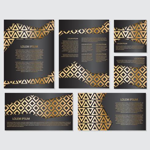Guld banner bakgrund flyger stil Design mall vektor