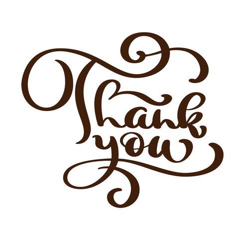 Danke, handschriftliche Aufschrift zu simsen. Handgezeichnete Schriftzug. Danke Kalligraphie. Danke dir Karte. Vektor-Illustration vektor