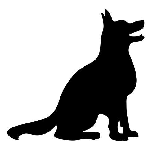 Hundeschattenbild-Vektor-Illustration vektor