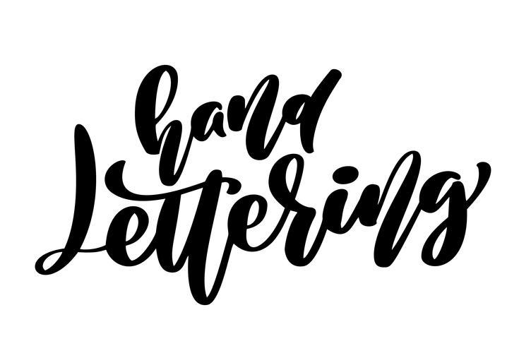 Hand Schriftzug Satz. Kalligraphie inspirierend Handgemalte Pinselbeschriftung. Handbeschriftung und individuelle Typografie für Ihre Designs, T-Shirts, Taschen, Poster, Karten vektor