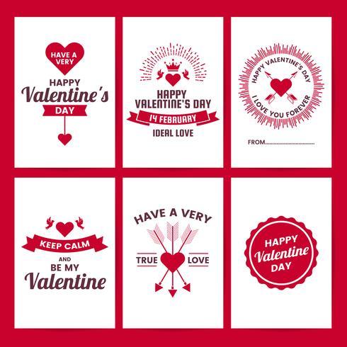 Valentinsgrußschablonenfahne Vektorhintergrund für Fahne vektor