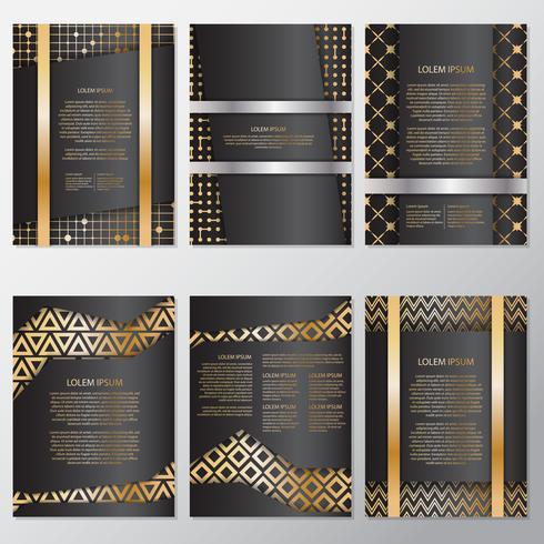 Goldfahnenhintergrundfliegerart Design-Schablone vektor