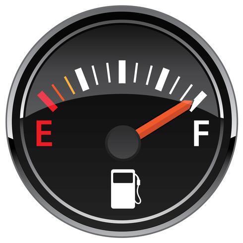 Gas-Kraftstoff-Fahrzeugarmaturenbrett-Messgerät-Vektor vektor