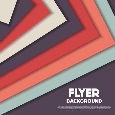 frische Hintergrund Flyer Stil Hintergrund Design-Vorlage vektor