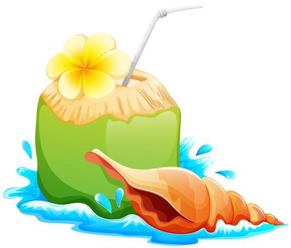 Ein erfrischendes und gesundes Sommergetränk vektor