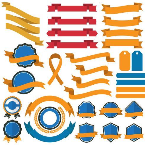 Weinlese-Retro- Vektor-Logo für Fahne vektor