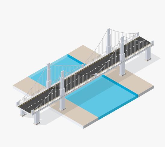 Die Brücke Skyway von städtischem vektor