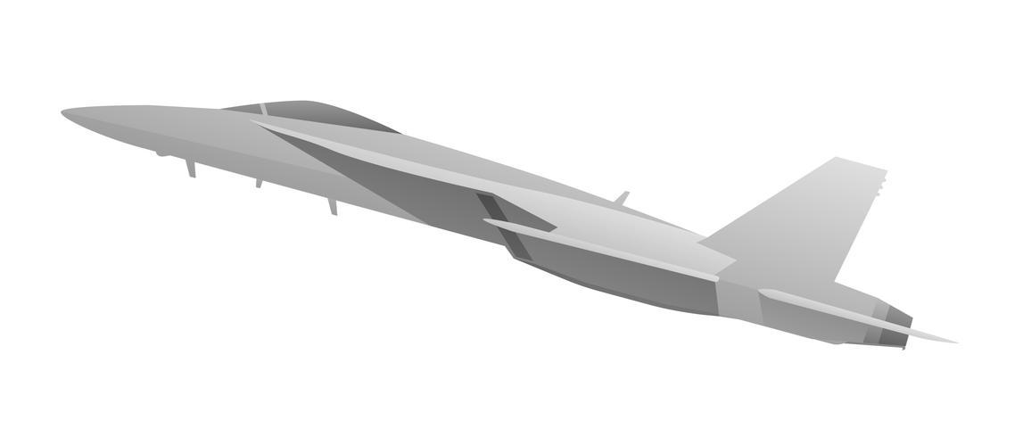 Moderner Militärkämpfer Jet Aircraft Vector Illustration